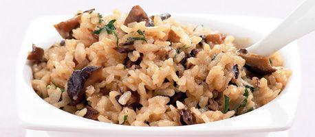 Hoofdgerecht: risotto met paddestoelen
