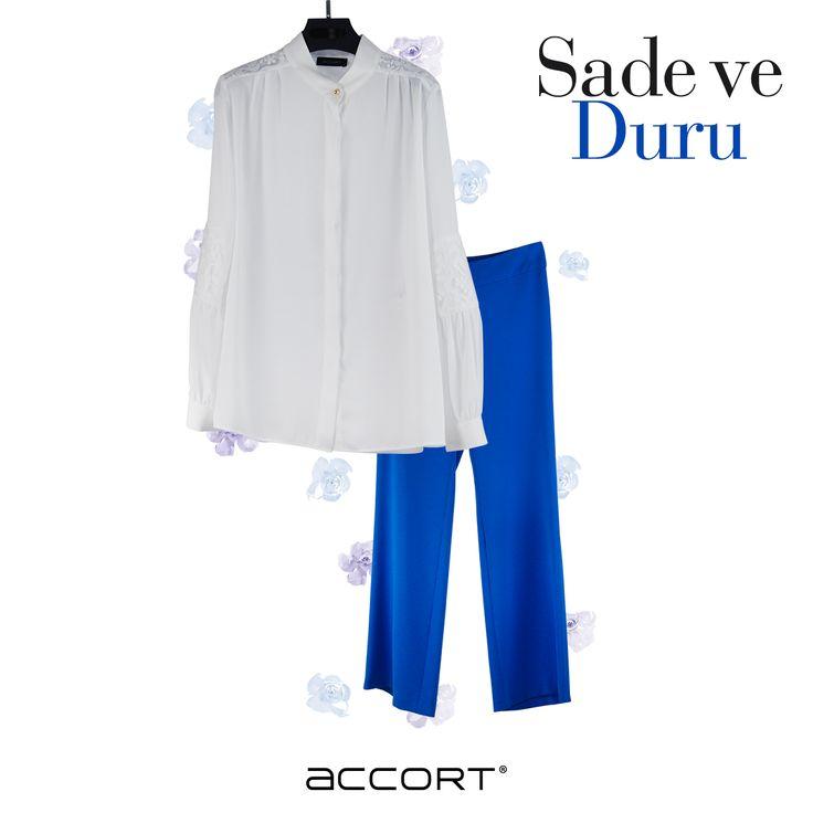 Sade ve duru #moda #gömlek #accort