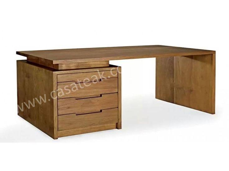 Teak Wood Writing desk Kl #Teakwood #Woodfurniture #Solidteakwood #WoodfurnitureMalaysia #IndoorTeakfurniture #designerfurniturekl