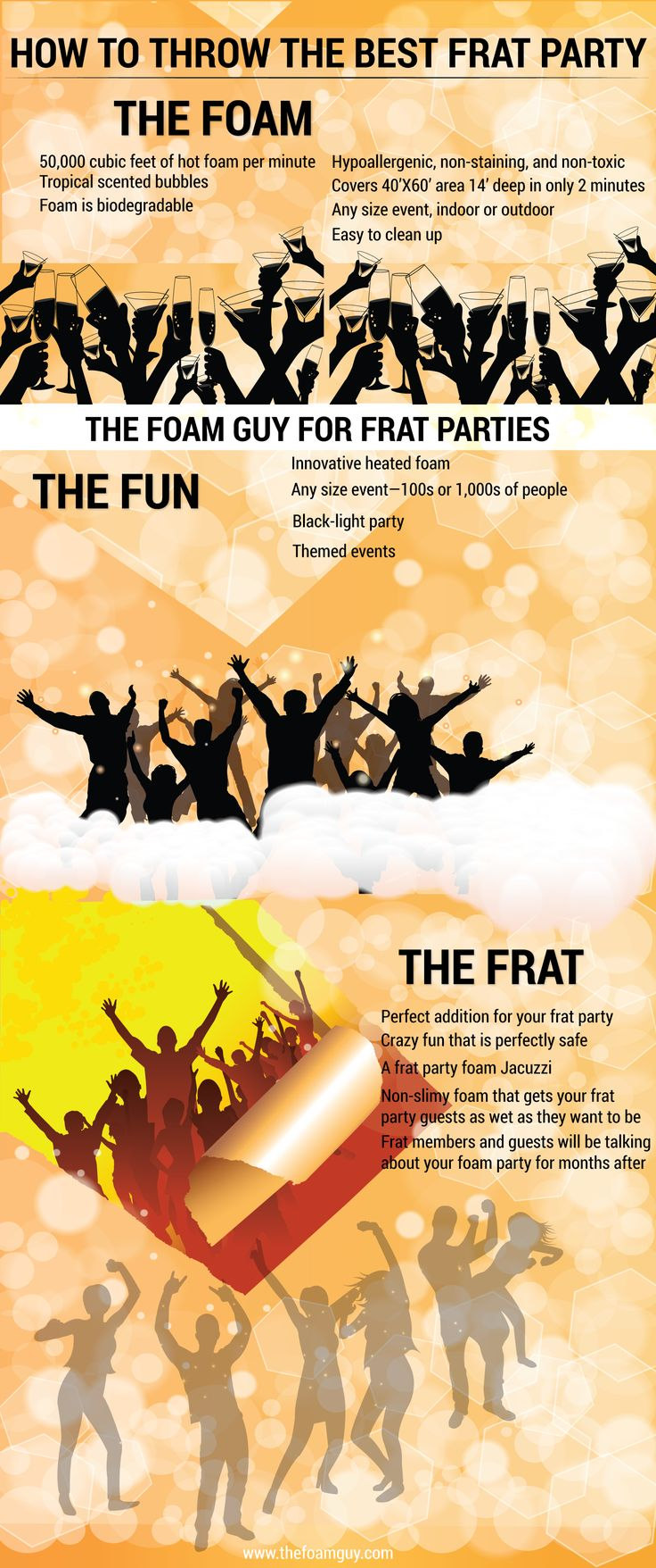 20 beste ideen over corps feestjes op pinterest toga party if you are wondering how to throw the best frat party then bring in the foam guy and popularize the event in your college the inventive heated foam would monicamarmolfo Images