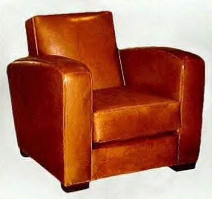 Club chair - The old cinema in Acton used to have these instead of row seats - and a waiter brought your drinks on a tray!