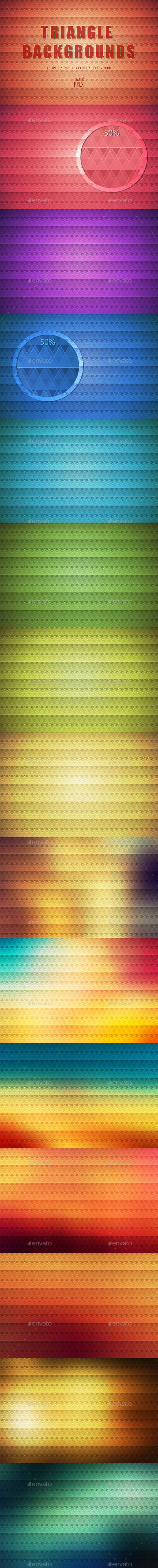 15 Triangle Backgrounds #graphic #background  #texture  #download #pattern #wallpaper  #pixelated #abstract #clean geometric #geo