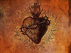 Resultado de imagen para imagenes antiguas del sagrado corazon de jesus