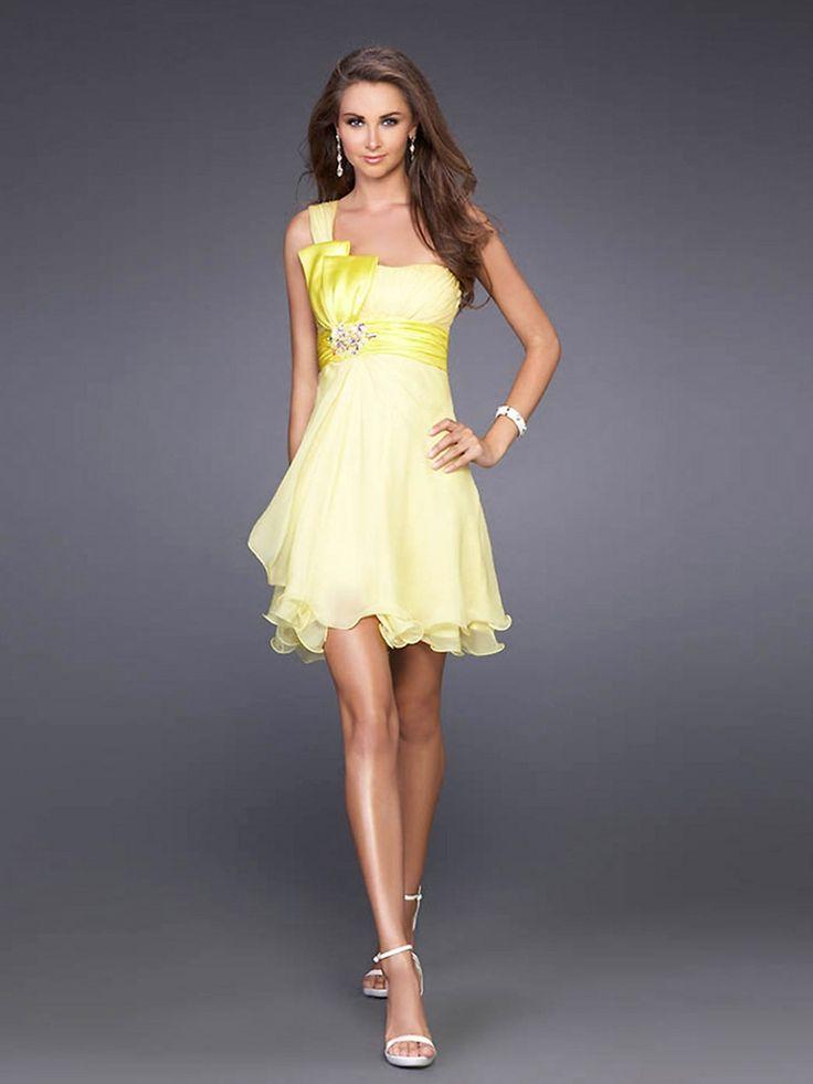 short gray prom dress | ... Bow-One-Shoulder-Neckline-Sleeveless-Short-Homecoming-Dress-SG0381.jpg