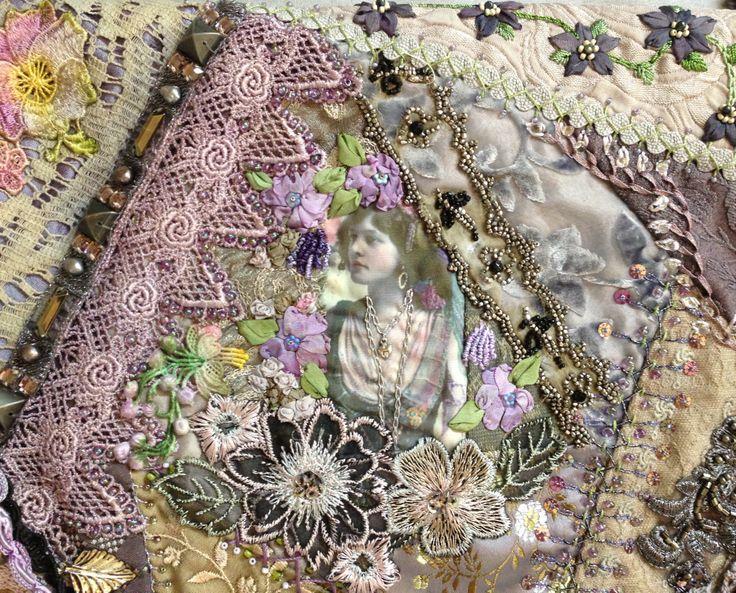 I Crazy Quilting Beading Ribbon Embroidery Cq Boho