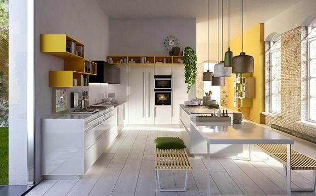 New kitchen design ideas from Snaidero reflect modern kitchen trends for creating comfortable, functional and practical kitchen interiors. Modular furniture for kitchen designs are one of popular tren