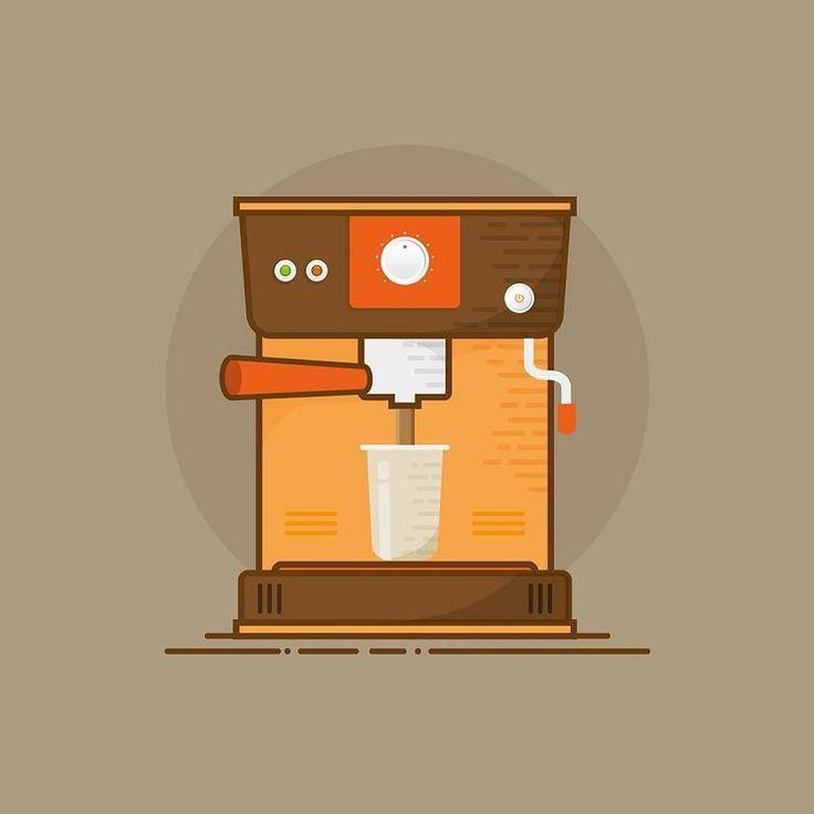 //coffee machine  #coffee #coffeemachine #coffeemaker #vector #icon…