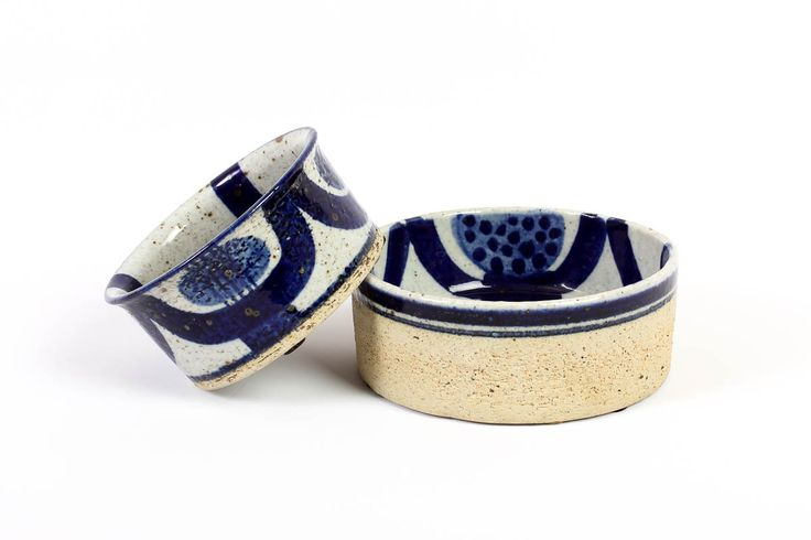 Pair of Inger Persson Bowls - Rorstrand Atelje Sweden - Swedish Stoneware by ThePapers on Etsy