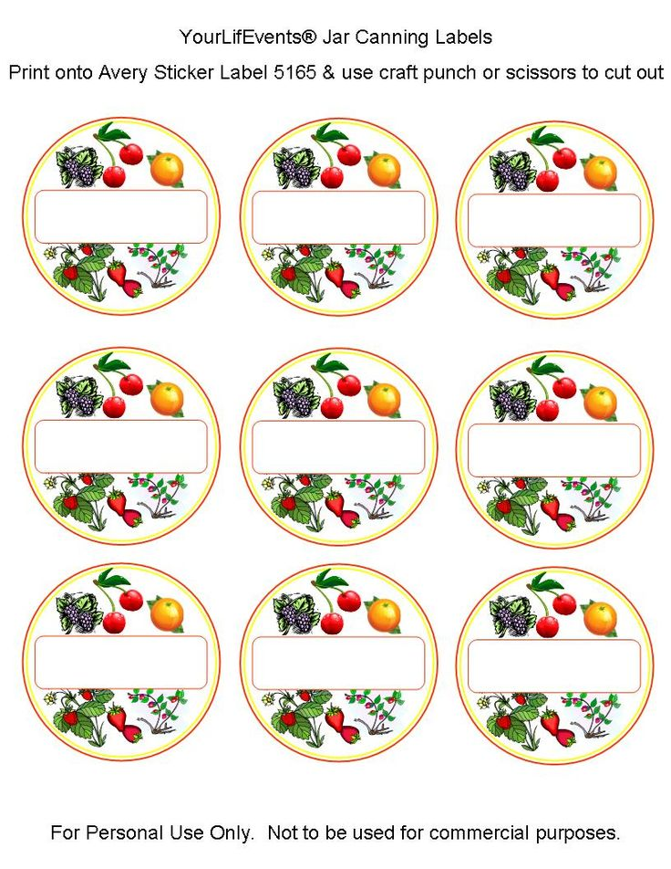 canning labels | Free Printables} Fruit & Vege Jar Canning Labels | Your LifEvents ...