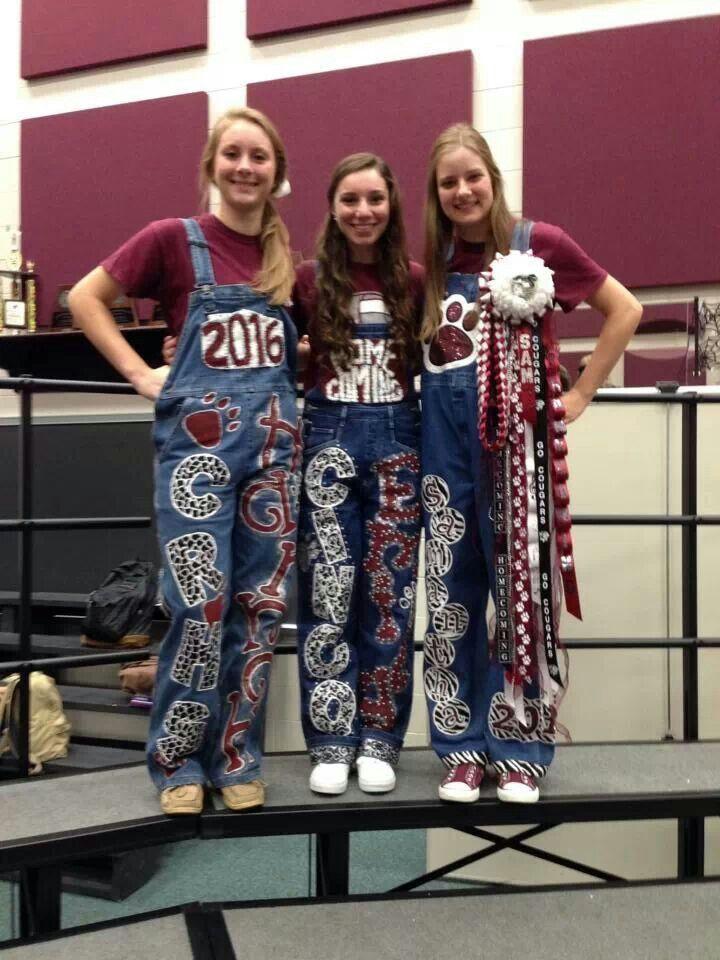 homecoming overalls football game team spirit katie pinterest