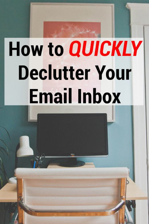 how to clean your email inbox