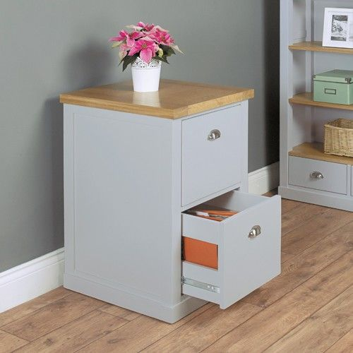 Perfect storage for all your filing with our chadwick grey painted two drawer filing cabinet