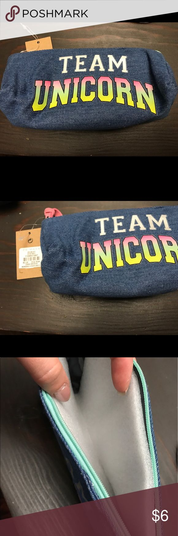 NWT team unicorn makeup bag New with Tags - Team Unicorn 🦄 Makeup bag. Purchased from Primark. Dimensions 7inch long 2 in wide. primark Bags