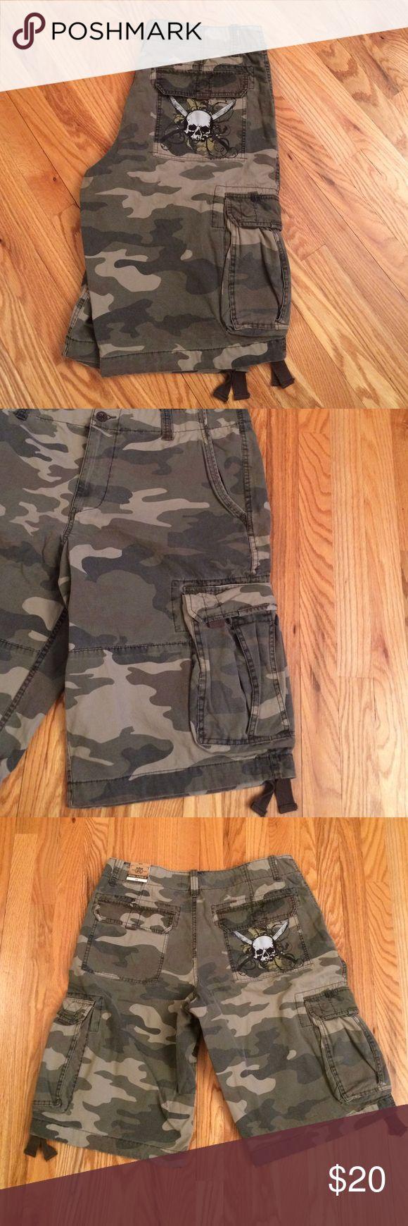 Camo Shorts with Skull Pocket NWT'S Camo Shorts with Skull Pocket NWT'S. Size 38W Route 66 Shorts