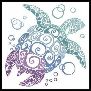 Cross Stitch Charts | Turtle Silhouette is Cross Stitch Chart of the Week; this is cool