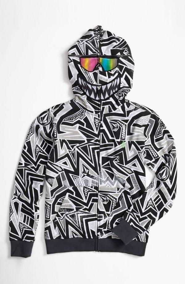 'Ktex' Zip Up Mask Hoodie (Big Boys) by nordstrom