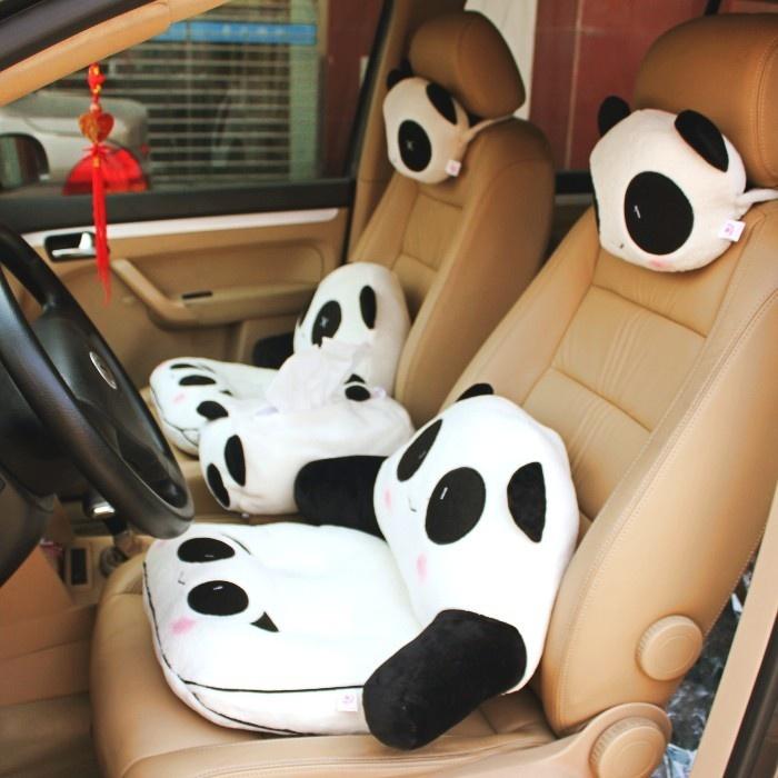 Cute Big Pillows : Big discount Giant panda sofa cushion pillow car lumbar support lumbar pillow nap pillow gaga ...