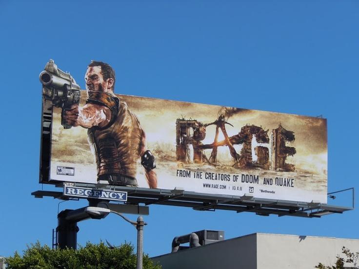 Rage video game billboard...