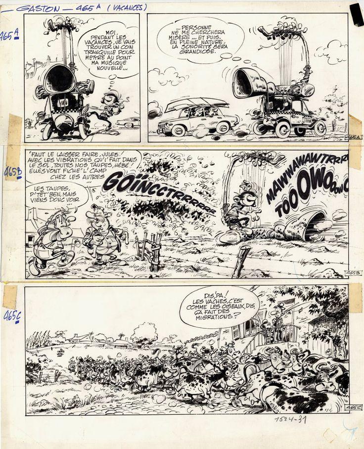 Gaston Lagaffe par Franquin. Gag 465 du 29 juin 1967.