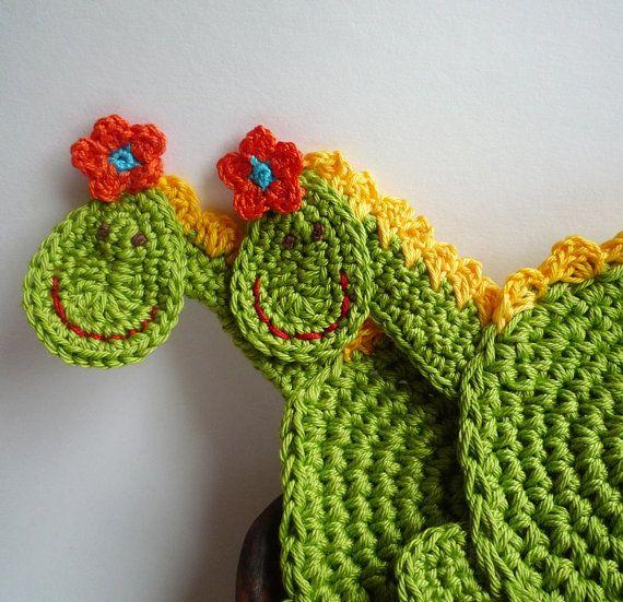 Crochet Dragon Coasters Pattern DIY by MonikaDesign on Etsy,