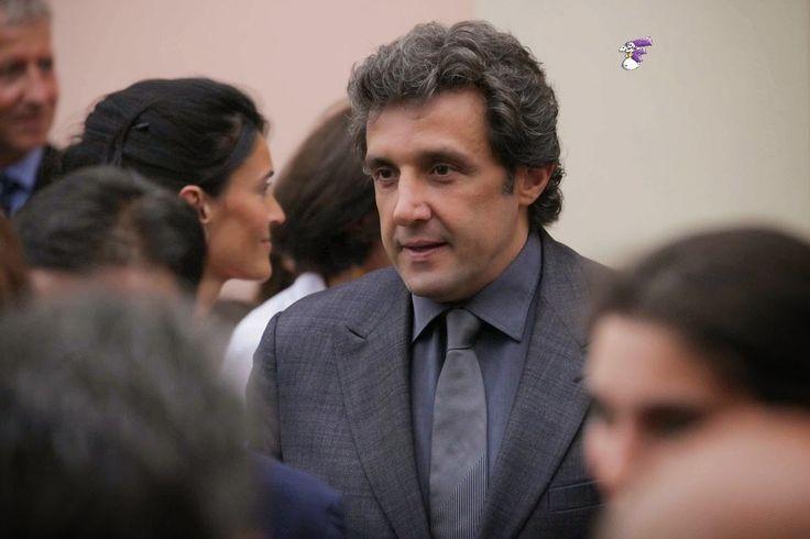 Flavio Insinna Il Conducente: Flavio Insinna alle nozze di Marta Abatantuono