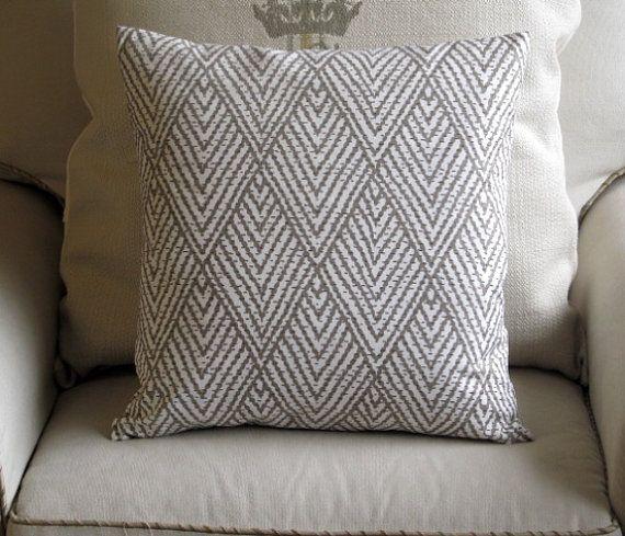 IKAT TAUPE designer drapery/bedding/upholstery by reneesfabrics