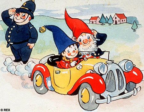 Noddy, Big-Ears and Mr Plod. Amazingly, this book was banned at one stage!  Anyone guess why?