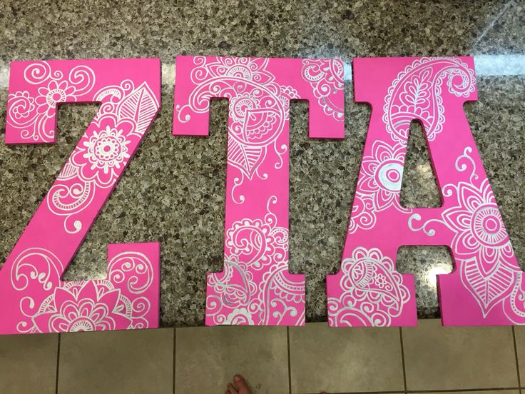 Sorority wooden letters ZTA