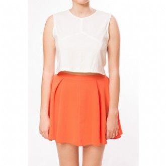 """EL AURIA """"volanlı turuncu etek"""" #maximumkart #etek #etekmodelleri #turuncuetek #kıyafetkombinleri #etekkombinleri #etekkalıpları #kadıngiyim"""