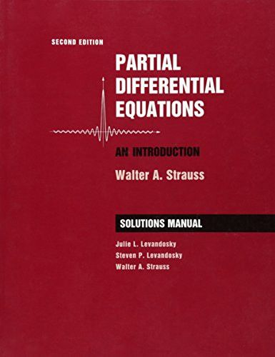 Student Solutions Manual to accompany Partial Differential Equations: An Introduction, 2nd Edition