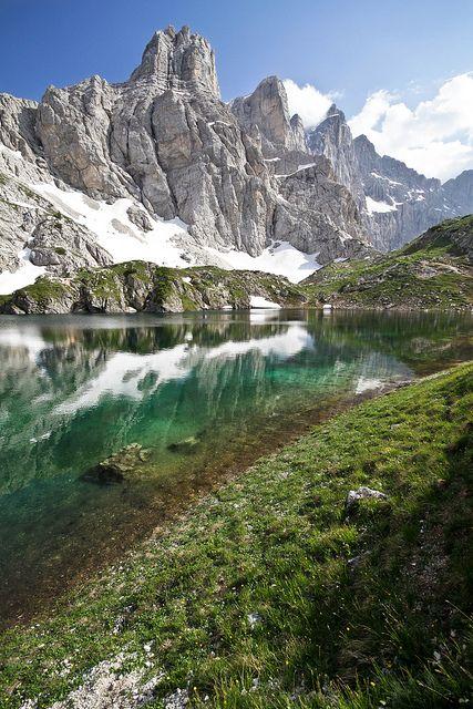 Lago di Coldai and Monte Civetta, Dolomites, Italy (by johnny XXIII)