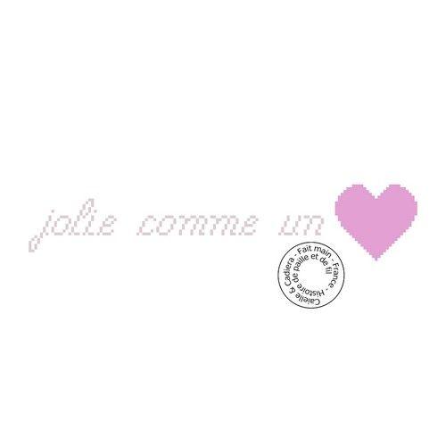 Grille gratuite - Jolie comme un coeur