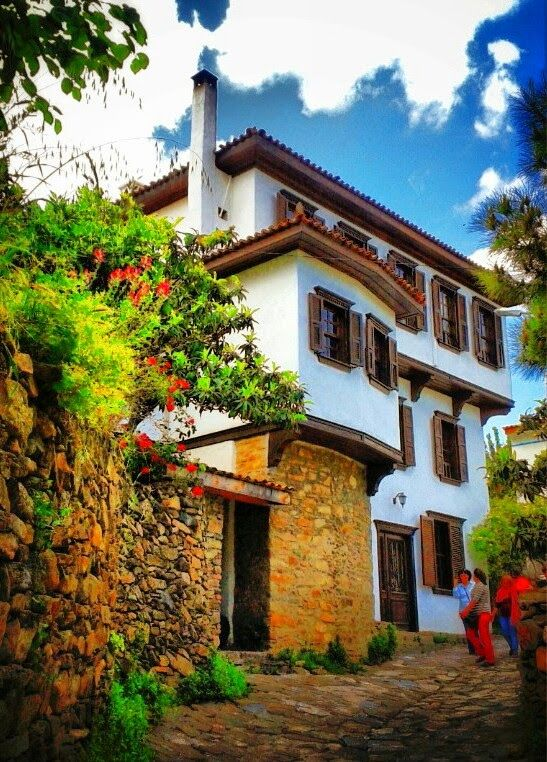 Houses of Sirincé, Selcuk, Izmir, Turkey.
