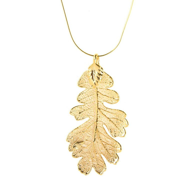 Nature Jewellery: Opulent Oak: Oak Leaves Dipped in Gold I MY MAGNIFICO #naturejewellry #gold #leaf #magnifico