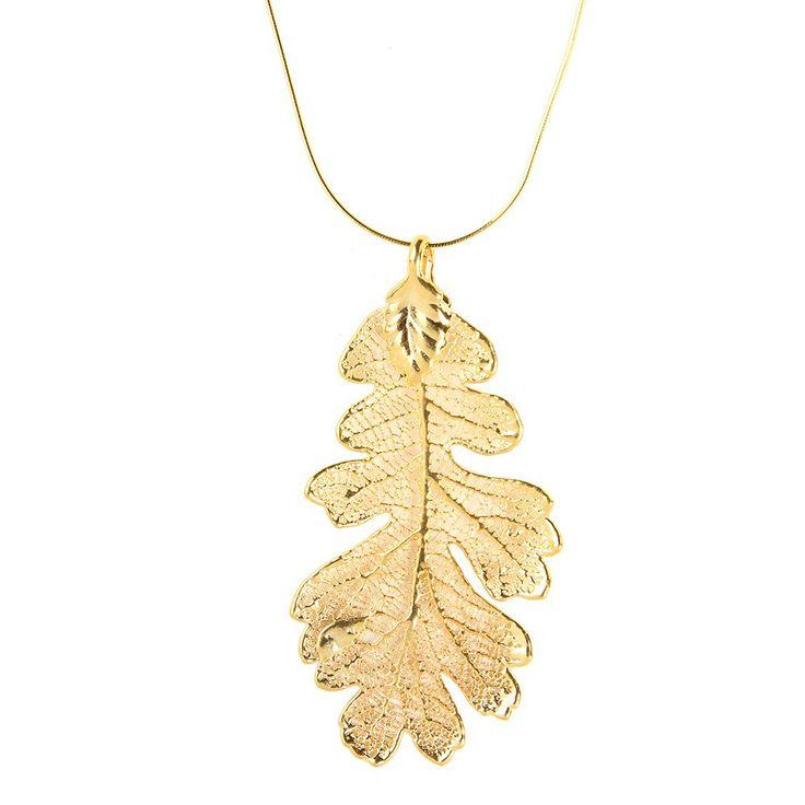 Nature Jewellery: Opulent Oak: Oak Leaves Dipped in Gold I MY MAGNIFICO #naturejewellry #gold #leaf #magnifico