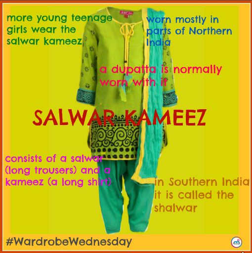 Many Bollywood actresses wear it. But what is it? It's a salwar kameez! Originating from South Asia, the salwar kameez is a type of Indian garb that more and more Indian women are beginning to wear. Check out more fun facts about the salwar kameez!