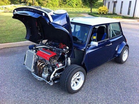 Cool Classic Mini With A B Series Honda Engine Mini