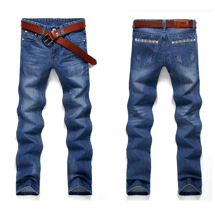 68.78$  Watch here - http://aliewj.shopchina.info/1/go.php?t=32818332154 - Fashion Straight Mens Biker Jeans Men homme Casual Blue Denim Design Mens Clothing China Brand Jeans Men hombre  #buymethat