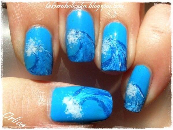 WAVES #nail #nails #nailsart
