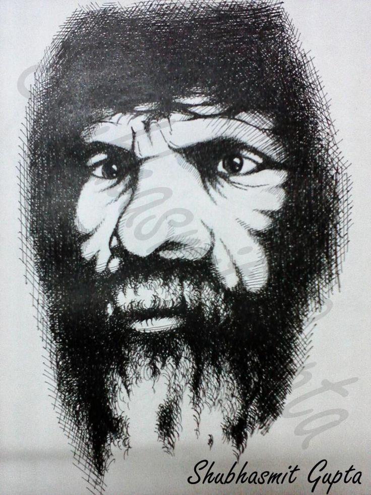 """Portrait 4""  Ink"