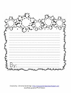 snow writing paper - can make into a display  for the hallway!