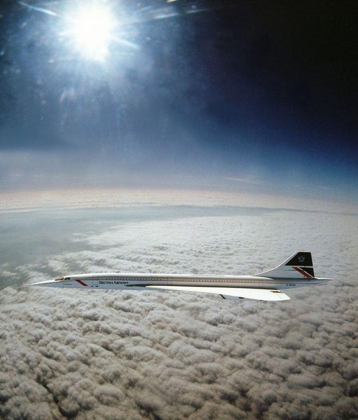 chrisgaffey:  April 1985. The only image ever taken of Concorde flying at supersonic speed, 1,350 mph. Taken from a RAF Tornado fighter jet, which rendezvoused with Concorde for just 4 minutes over the Irish Sea, rapidly running out of fuel and struggling to keep up at Mach 2.
