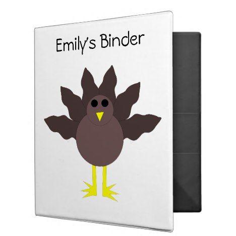 Funny Thanksgiving Turkey Custom Binder #thanksgiving #binders