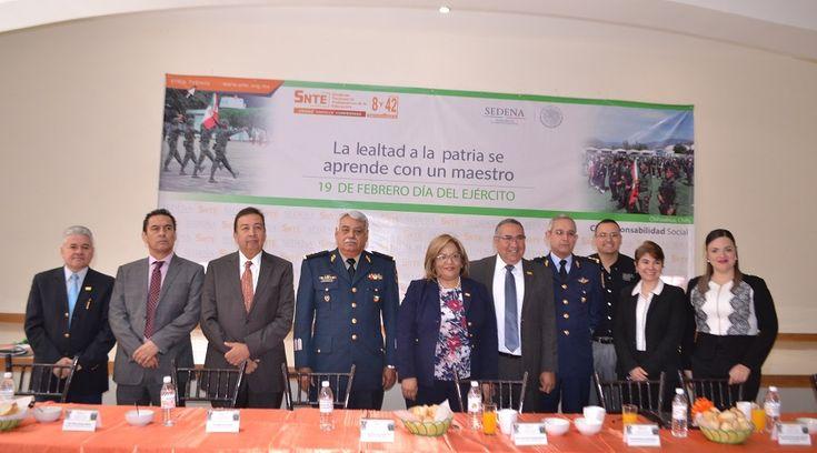 Reconocen Secciones 8 y 42 del SNTE a las Fuerzas Armadas de México; Somos dos ejércitos hermanados: Ever Avitia | El Puntero