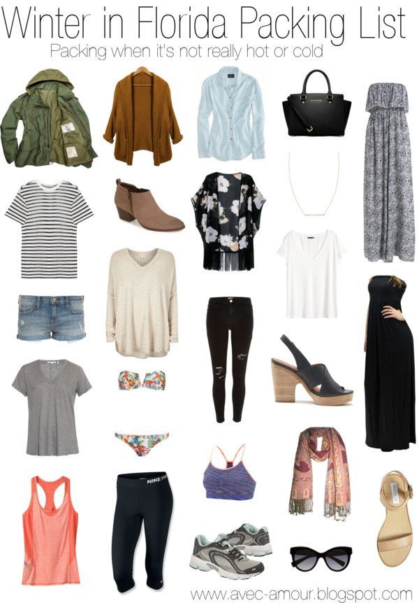 Packing List For Winter In Florida Women S Fashion Of
