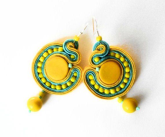 sunny day -  soutache earrings