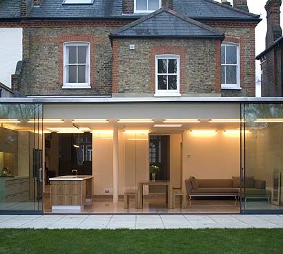 ground floor contemporary Victorian extension