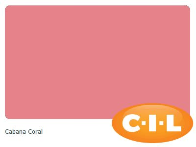 Look at this gorgeous CIL paint colour I found at CIL.ca!  It's Cabana Coral 89RR 36/416.