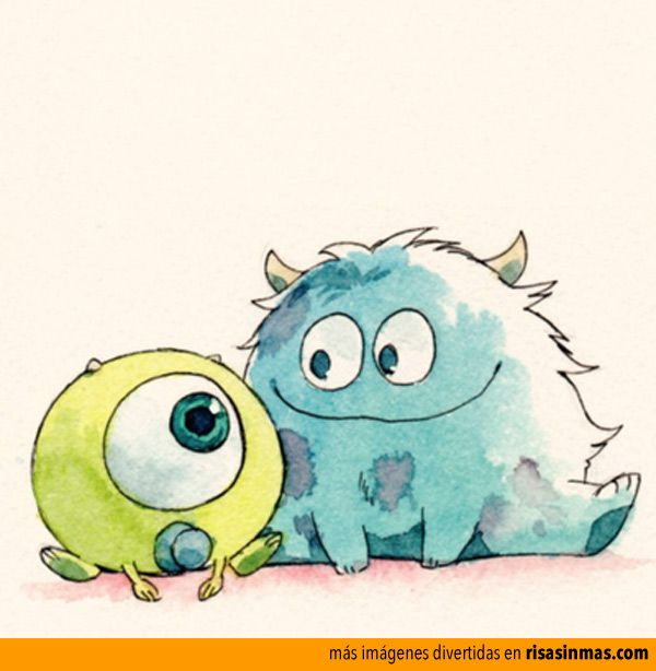 how to draw mike wazowski as a kid