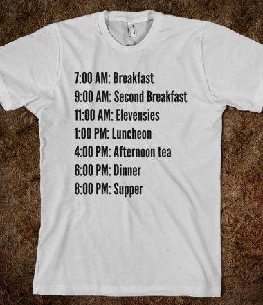 Hobbit Schedule - do want!